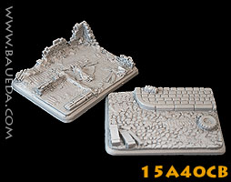 15A40CB - 2 different large vehicle scenic bases (urban)