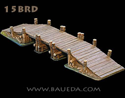 15mm modular rural wooden bridge!